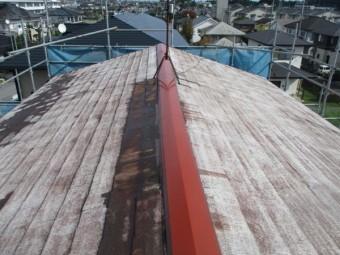 2階屋根の下塗りが終了しました