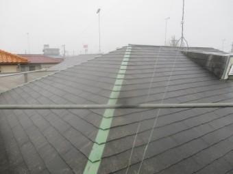 屋根の板金の状態です
