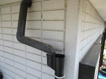 P管にベランダ排水管を納めました