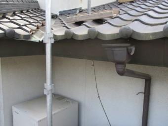 軒樋を撤去しました