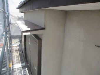 洗浄後の2階庇の状態です