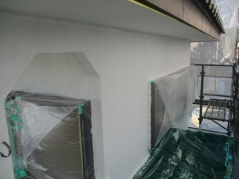 ベランダ周りのフィラー塗装が終了しました