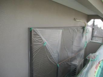 外壁の上塗り塗装が終了しました