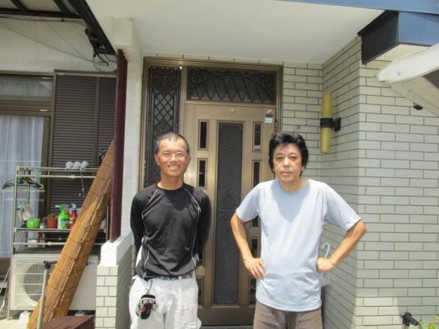 宇都宮市でひょう害による波板破損の交換工事をしました。