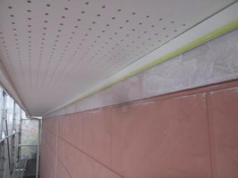 外壁下塗り刷毛塗装が終了しました