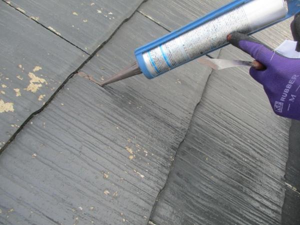 シーリング材を塗布しました
