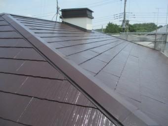 完工後の屋根南面の状態です