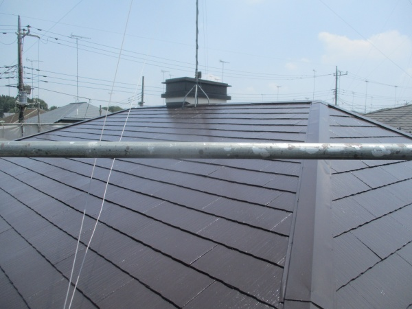 完工後の屋根北面の状態です