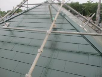 コロニアル屋根の完工です