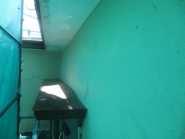 外壁の洗浄後の状態です