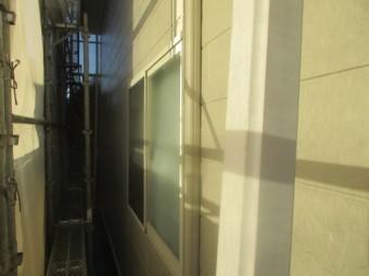1階の外壁役物の上塗りが終了しました