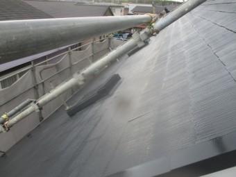 西面コロニアル屋根の完工です