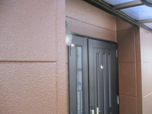 玄関周り塗装の完工です