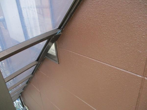 外階段内部の外壁塗装の完工です