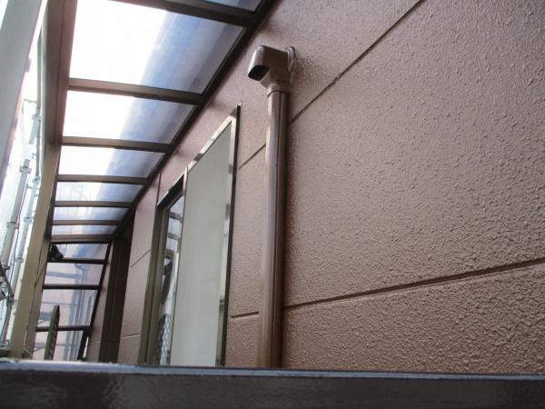 ベランダ外壁塗装の完工です