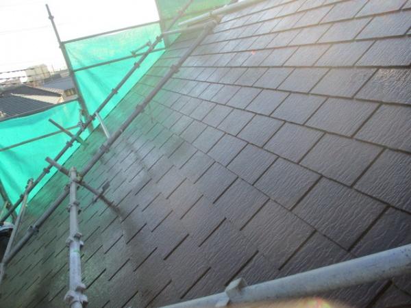 大屋根の中塗り終了です