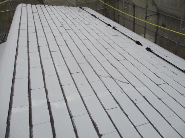 板金屋根の刷毛塗装が終了しました