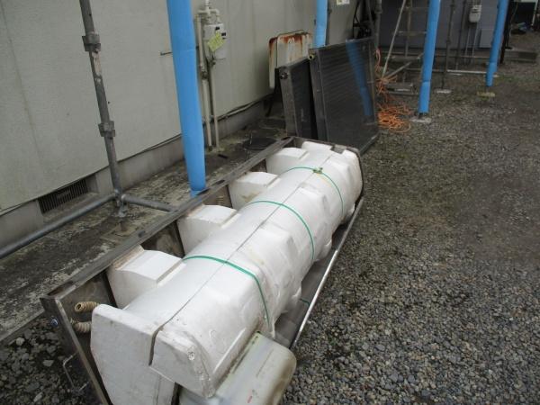 撤去した温水器タンクです