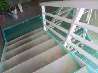 階段の養生です
