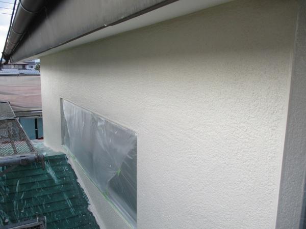 2階部分の外壁中塗りが終了
