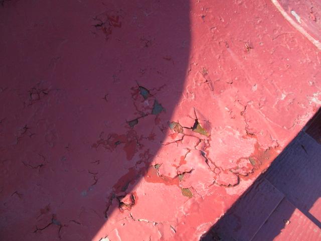 板金屋根の塗装面です