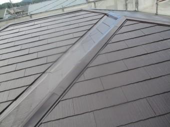 2階屋根の完工です