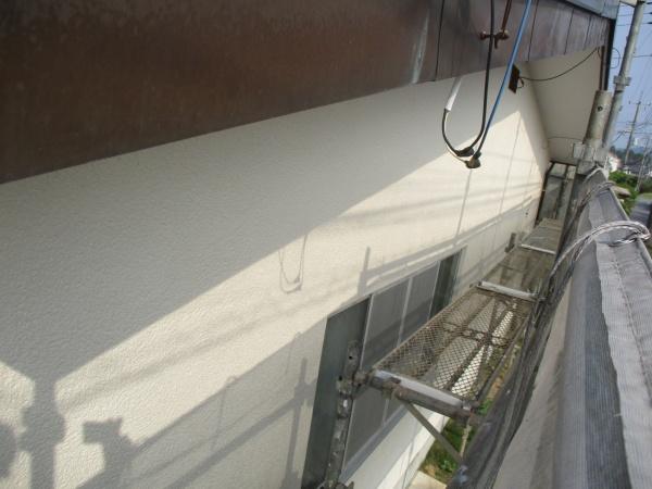 2階西面の外壁塗装の完工です