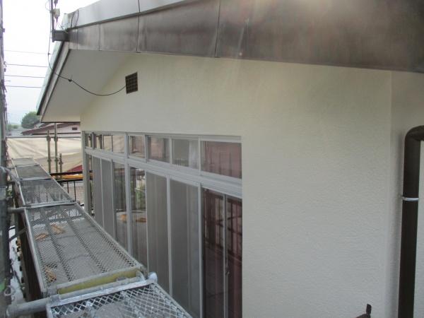 2階南面の外壁塗装の完工です