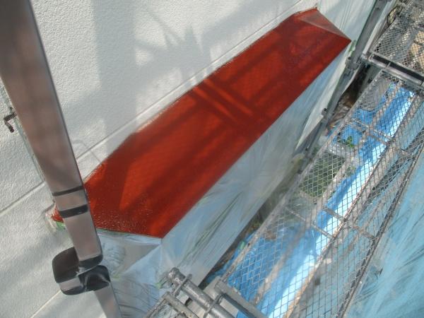 出窓天板の錆止め塗装が終了しました