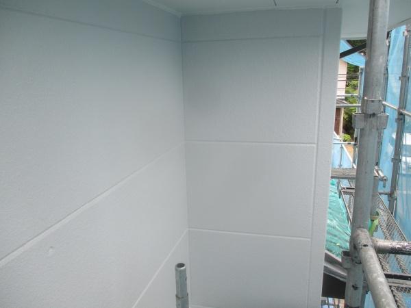 外壁中塗りが終了しまし