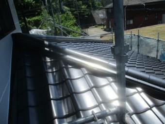 養生撤去後の屋根の状態です