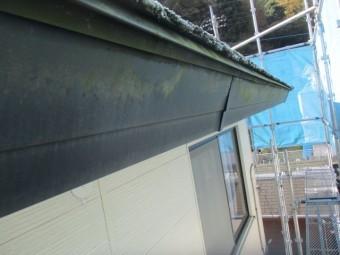 洗浄前のは破風板の状態です