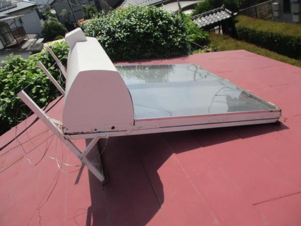 太陽熱温水器を設置しました