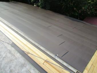 本日の施工後の屋根の状態です