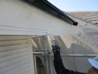 破風板を塗装しました