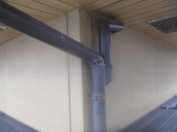 施工前の雨樋の状態です
