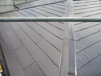 コロニアル屋根の塗装が終了しました