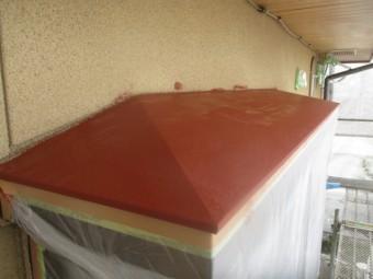 天板の錆止め塗装が終了しました
