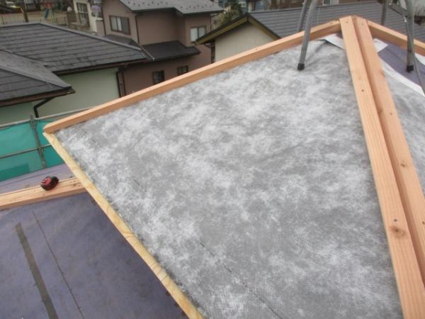 越屋根の造作が終了しました