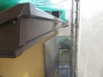 軒樋の1回目塗装が終了しました