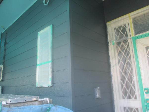 1階外壁の上塗りが終了しました