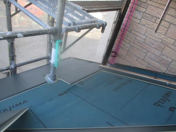 本日の施工後の下屋根の様態です