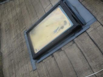 洗浄後の天窓の状態です