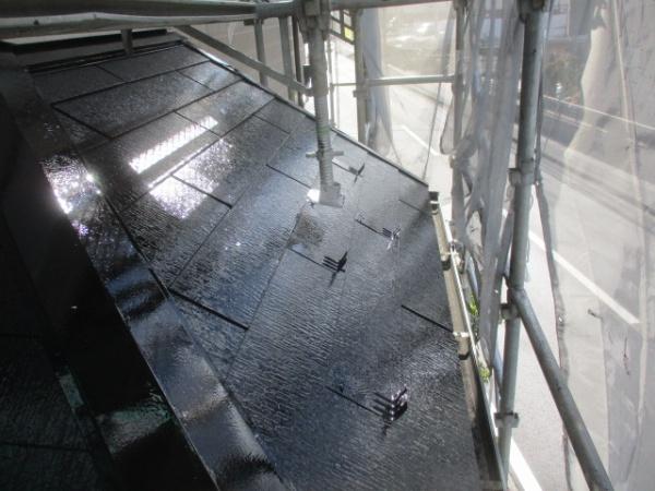 下屋根塗装が終了しました