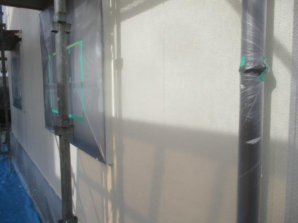 外壁の上塗り終了です