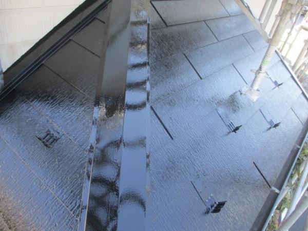 1階屋根の上塗り終了です