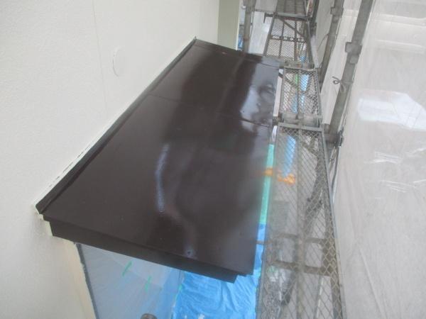 霧よけ天板の中塗り終了です