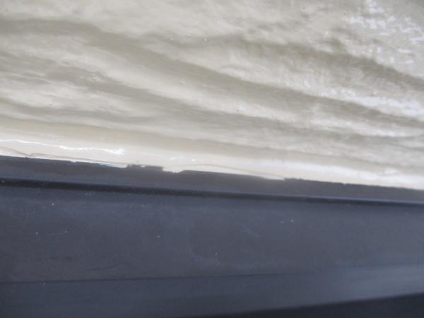 塗装後の窓枠周りの状態です