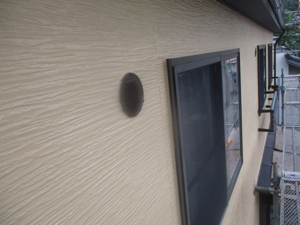 2階外壁塗装の完工です