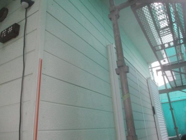 外壁の洗浄終了です